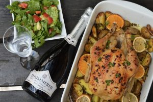 best foods to go with champagne