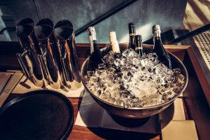 chilled wines ready to serve