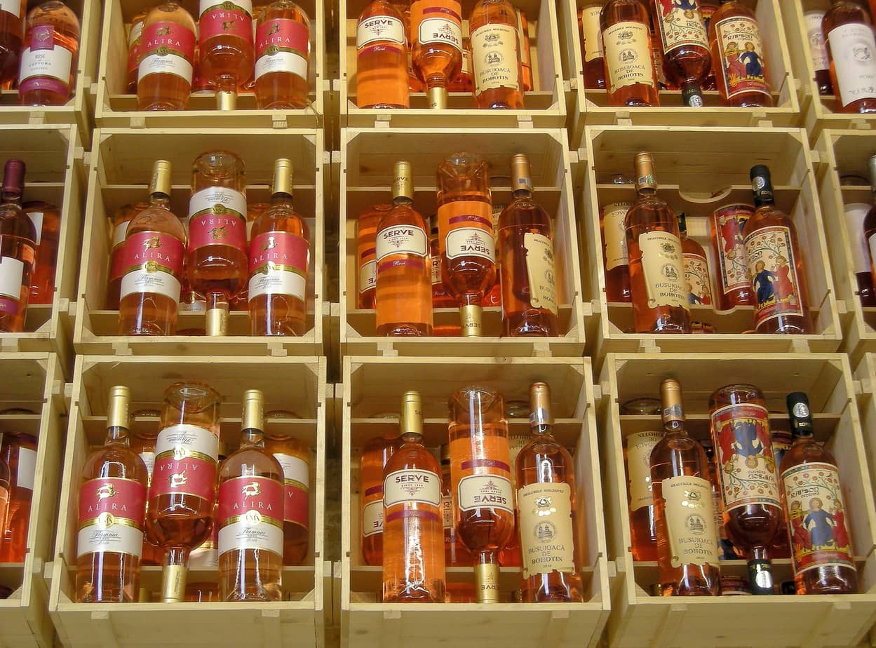crates of pink wines - winc wine club review featured image