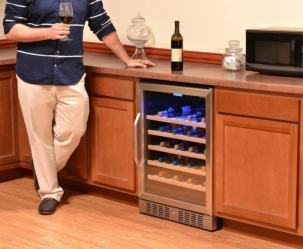 under counter wine cooler - featured image
