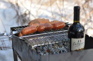 barbecue and red wine