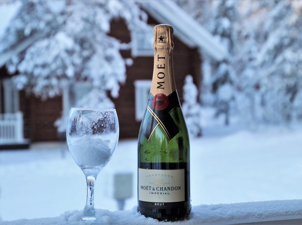 champagne on snow - featured image